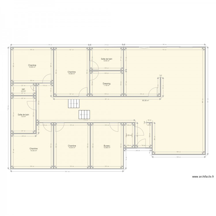 maison demi niveau v2 plan 11 pi ces 184 m2 dessin par. Black Bedroom Furniture Sets. Home Design Ideas