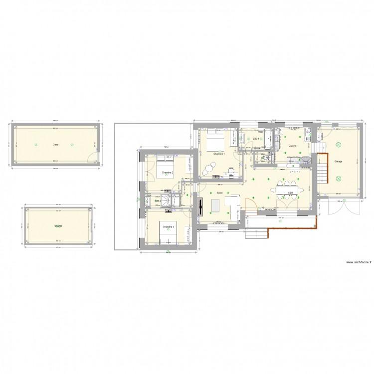 maison duparc travaux electricite plan 12 pi ces 140 m2 dessin par jerome65800. Black Bedroom Furniture Sets. Home Design Ideas