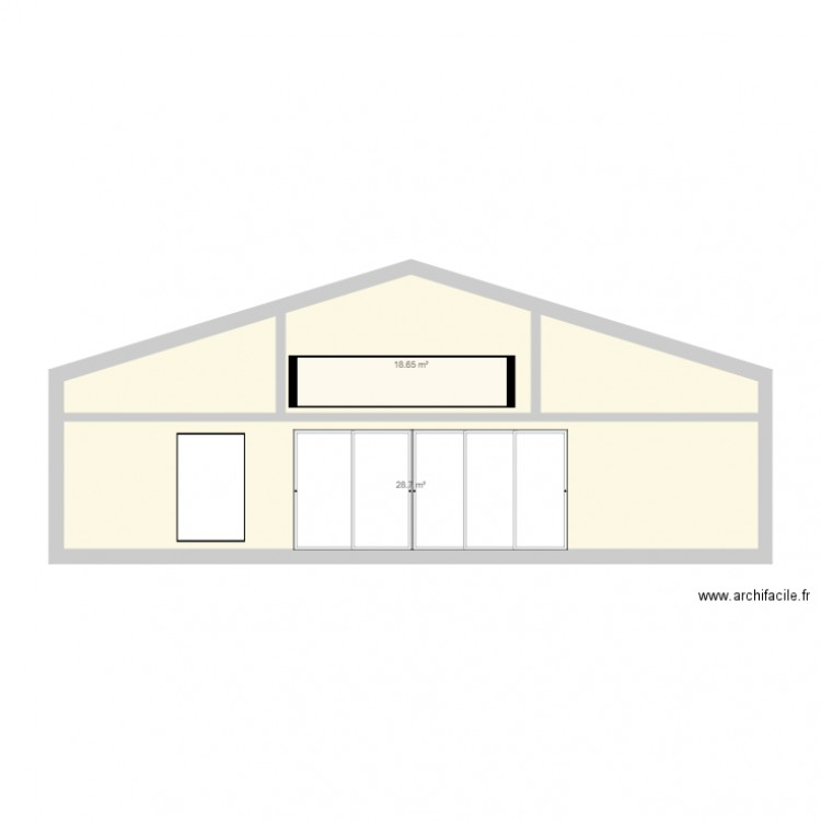 maison facade plan 2 pi ces 47 m2 dessin par clementinenoam. Black Bedroom Furniture Sets. Home Design Ideas
