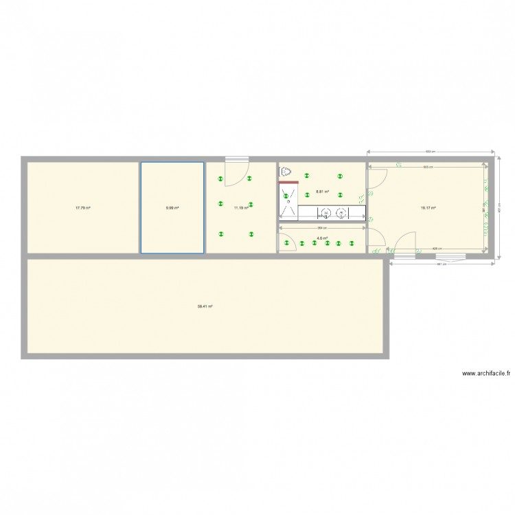 plan maison gianduzzo plan 7 pi ces 130 m2 dessin par brp vv. Black Bedroom Furniture Sets. Home Design Ideas