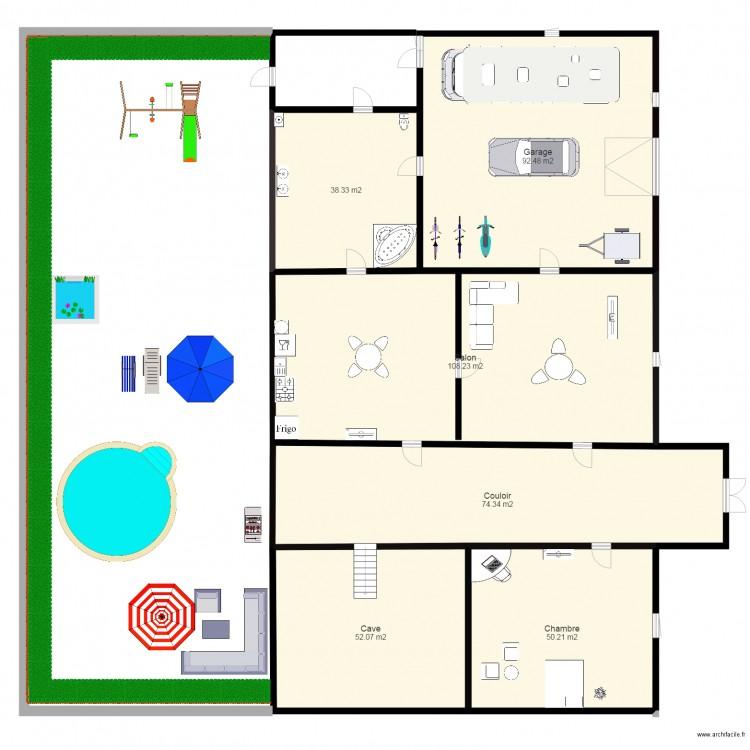 dossier electrique d une maison numero 3 plan 6 pi ces 416 m2 dessin par hazardhimad. Black Bedroom Furniture Sets. Home Design Ideas