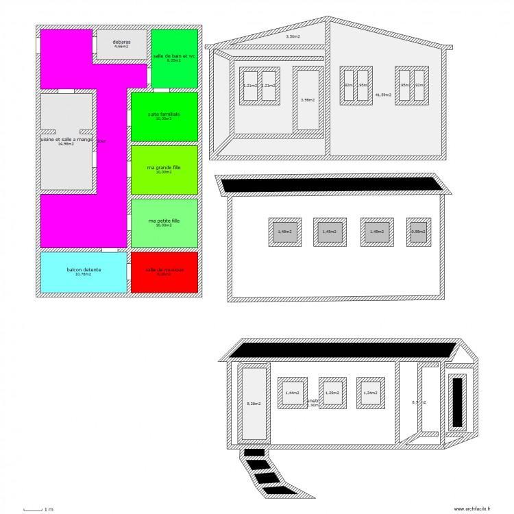 Maison personnelle etage avec escalier exterieur plan 36 for Maison avec escalier exterieur