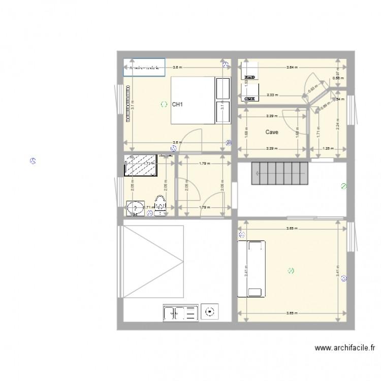 Test sous sol travaux plan 7 pi ces 42 m2 dessin par for Piscine 42 exam