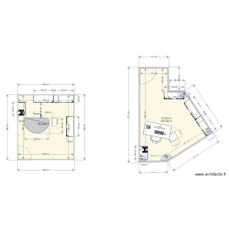 la poste vitrolles plan 2 pi ces 28 m2 dessin par empreintes. Black Bedroom Furniture Sets. Home Design Ideas