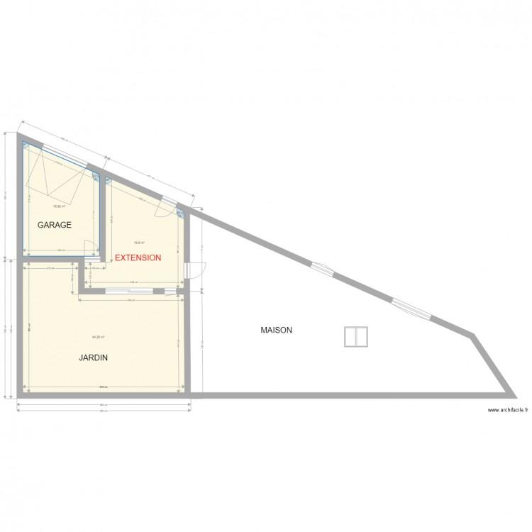 plan maison avec cote plan de 3 pices et 83 m2