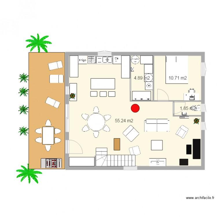 Plan Maison Niveaux Plan Pièces M Dessiné Par Coralie - Plan maison 2 niveaux