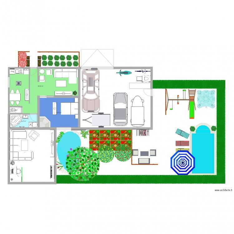 Maison plan 4 pi ces 49 m2 dessin par matdu62 for Dessine mes plans de maison