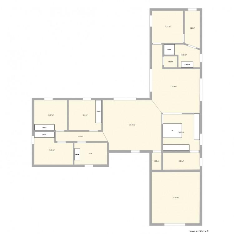 Plan Maison 220m2 Plain Pied Nantes 44 Mf Construction 1