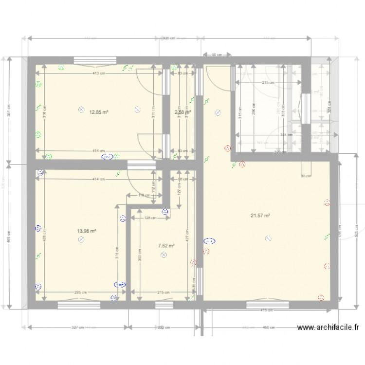 louana etage bon apr s travaux plan 11 pi ces 129 m2 dessin par galafassi. Black Bedroom Furniture Sets. Home Design Ideas
