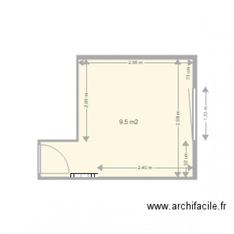 cuisine plan 1 pi ce 10 m2 dessin par mentor. Black Bedroom Furniture Sets. Home Design Ideas