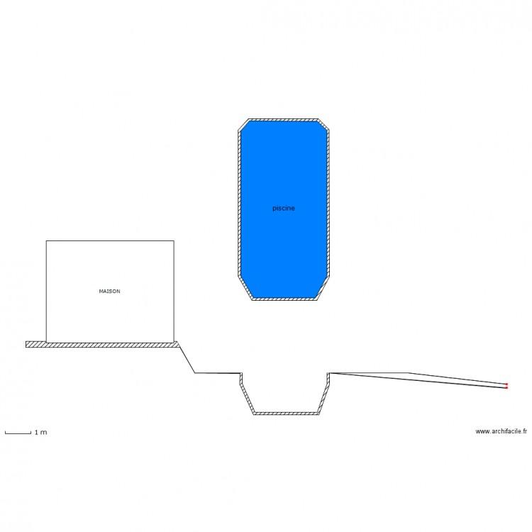 piscine coupe dp3 plan 1 pi ce 23 m2 dessin par crouf. Black Bedroom Furniture Sets. Home Design Ideas