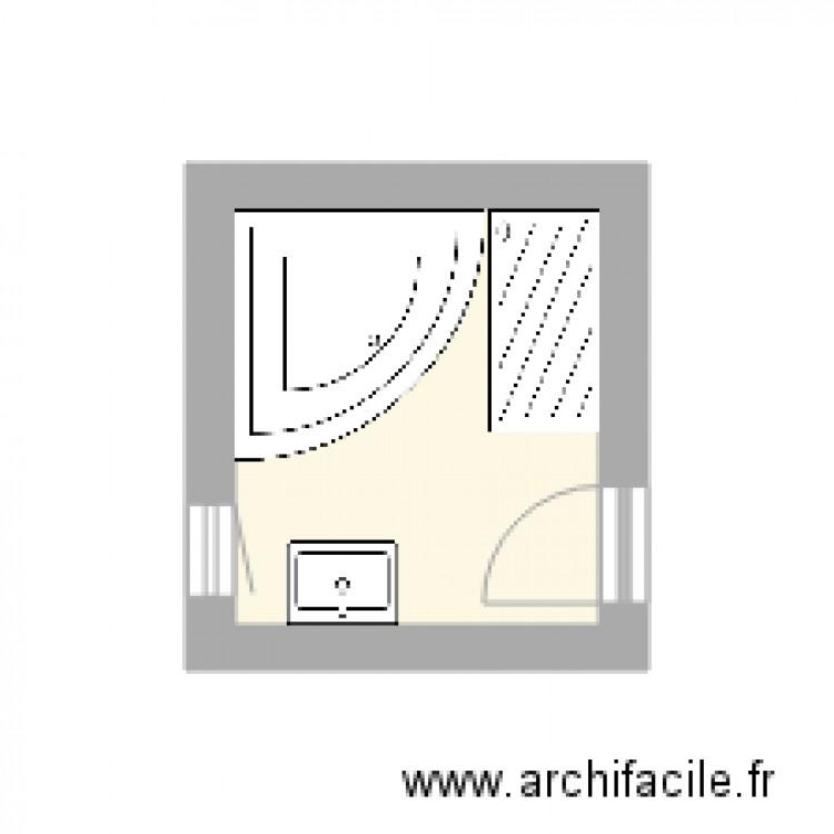 Salle de bain plan 1 pi ce 4 m2 dessin par prambaud for Salle de bain 4 m2