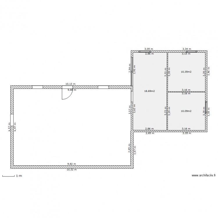 Häufig plan extension 40m2 - Plan 3 pièces 39 m2 dessiné par gagapris BD91
