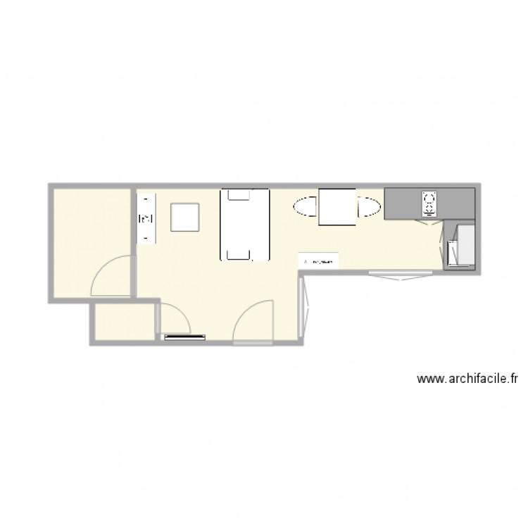 appart reims plan 3 pi ces 19 m2 dessin par bubuche51. Black Bedroom Furniture Sets. Home Design Ideas