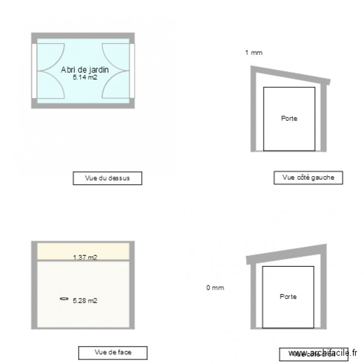 abri de jardin sol plan 3 pi ces 12 m2 dessin par freder. Black Bedroom Furniture Sets. Home Design Ideas