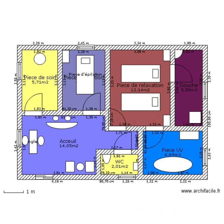Institut De Beaut 233 Plan 7 Pi 232 Ces 53 M2 Dessin 233 Par Tatianandougs