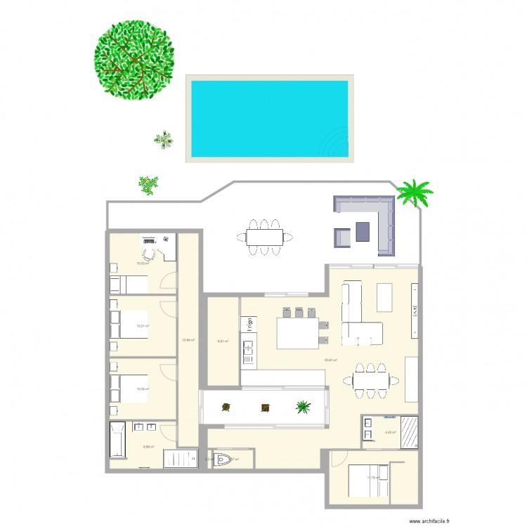 projet maison container plan 11 pieces 139 m2 dessine With dessiner plan de maison 16 arbre olivier