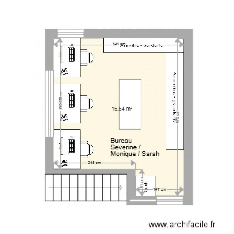 Bureau petit outillage entiers plan 1 pi ce 17 m2 for Nombre de m2 par personne bureau