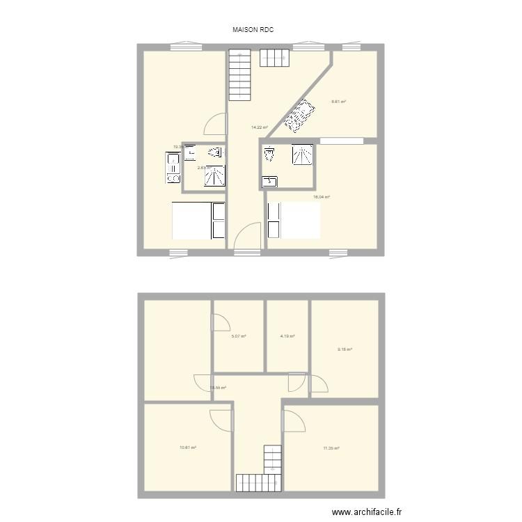 Maison Maisons Alfort V2 Rdc Plan 11 Pieces 120 M2 Dessine Par Selenasun