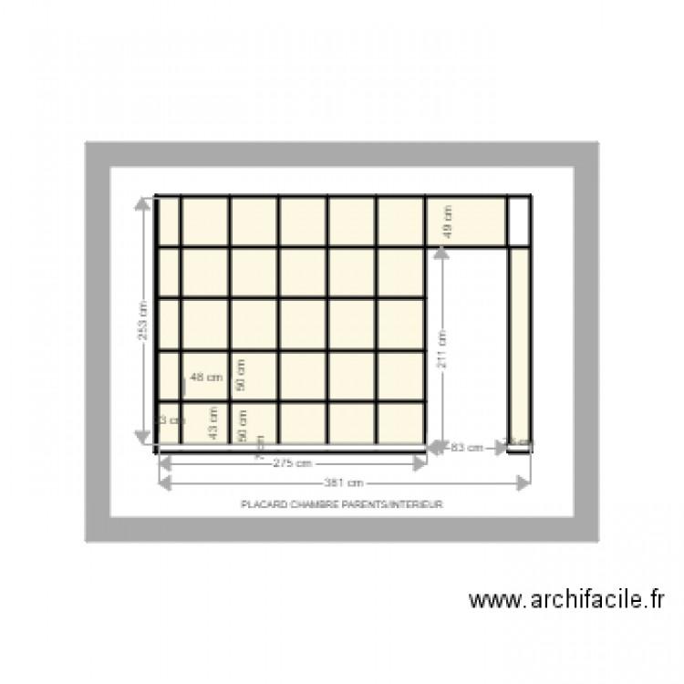 Placard selle chambre parents int rieur plan 33 pi ces 25 m2 dessin par serralunga for Placard interieur chambre