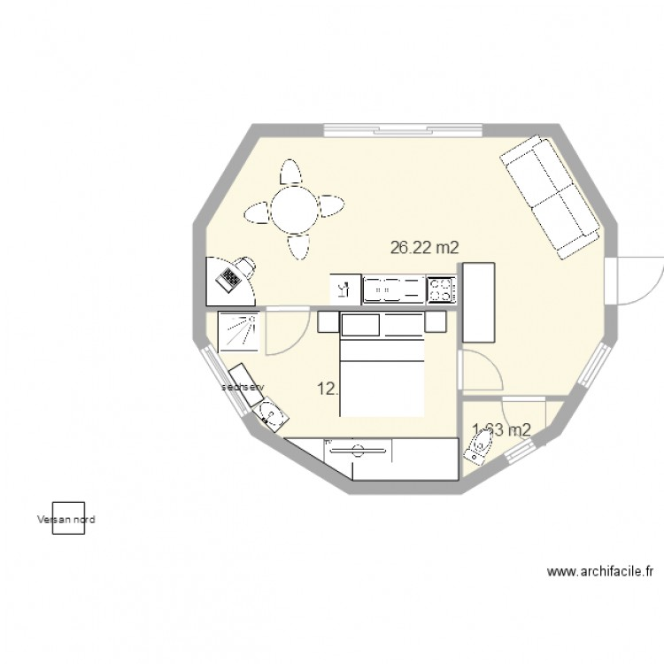 Fabuleux Plan Maison 50m2. Perfect With Plan Maison 50m2. Amazing With Plan  FQ66