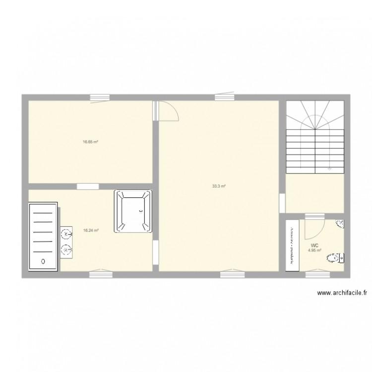 maison regis 2 me tage plan 5 pi ces 82 m2 dessin par