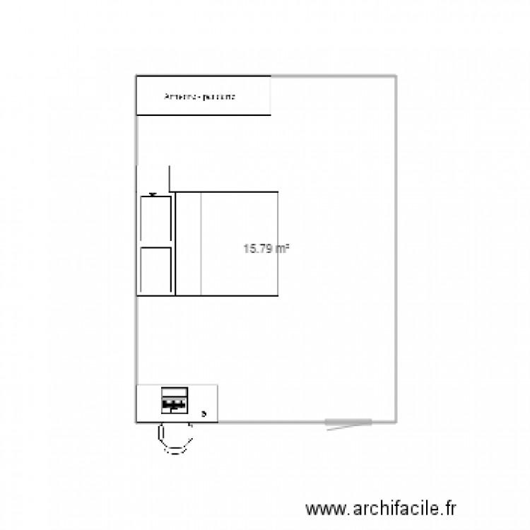 Chambre Plan 1 Pi Ce 16 M2 Dessin Par Nlwnmrt