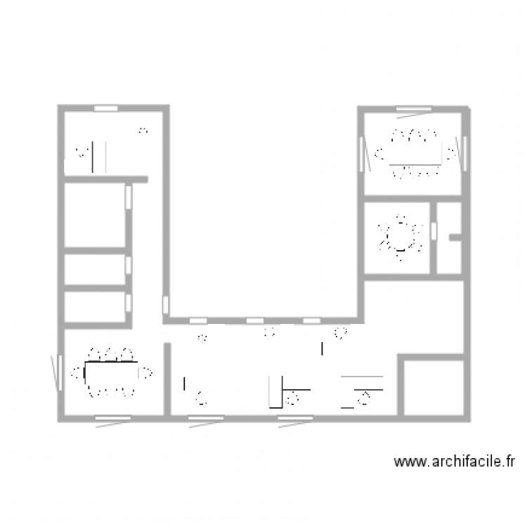 Croquis Pièces Maison : Croquis plan pièces m dessiné par laury k