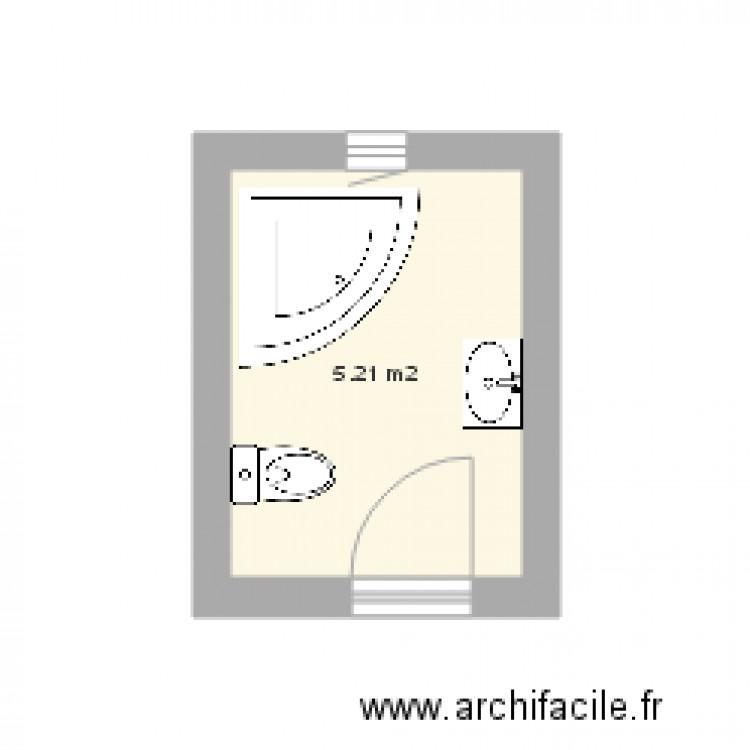 salle de bain plan 1 pi ce 5 m2 dessin par zoghlami. Black Bedroom Furniture Sets. Home Design Ideas