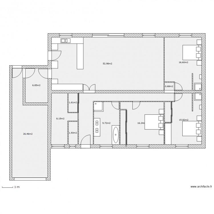 Maison bbc plan 12 pi ces 169 m2 dessin par ianos for Maison bbc plan