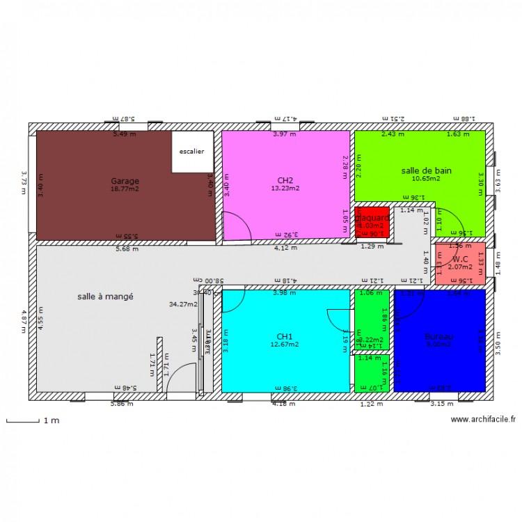 Maison Plein Pieds Avec Escalier Pour Combles Plan 9