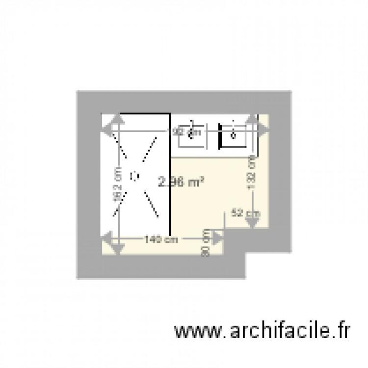 Salle De Bain Plan 1 Pi Ce 3 M2 Dessin Par Anlou