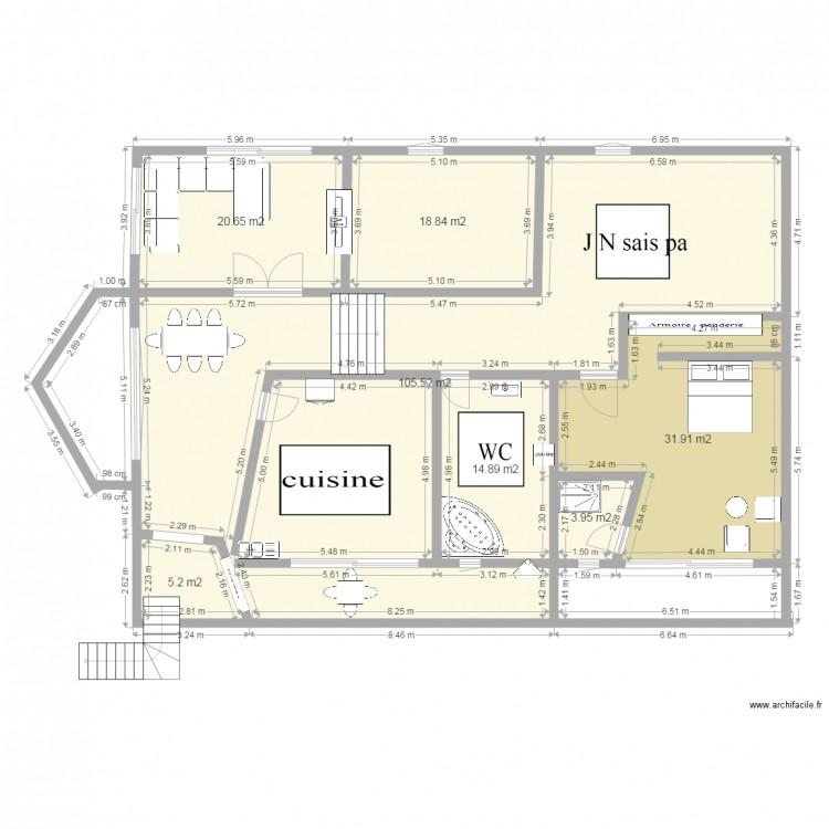Ma maison plan 7 pi ces 201 m2 dessin par maha macherki for Dessine ma maison gratuitement