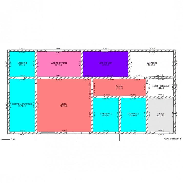 maison de plein pied plan 11 pi ces 170 m2 dessin par