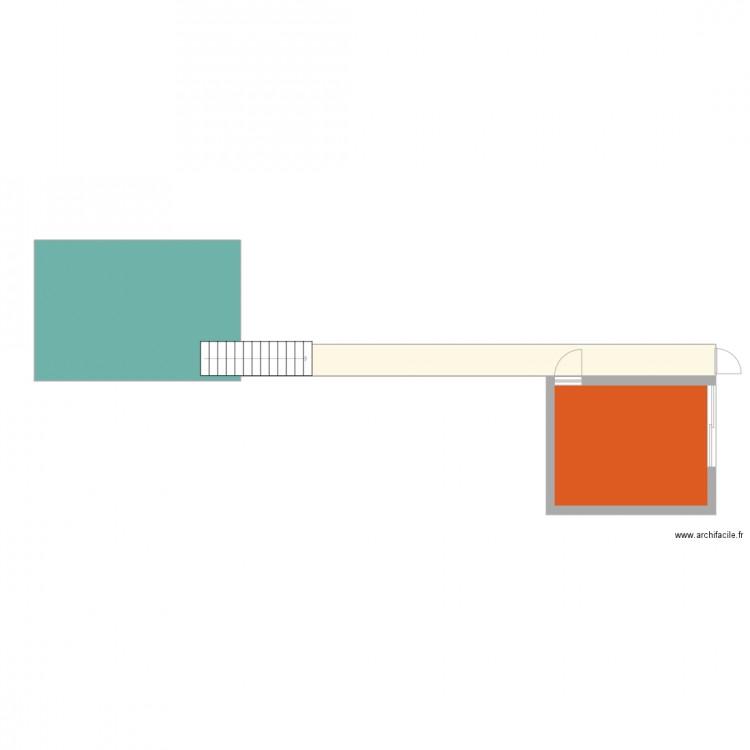 rez de chauss plan 3 pi ces 54 m2 dessin par marinapomi. Black Bedroom Furniture Sets. Home Design Ideas