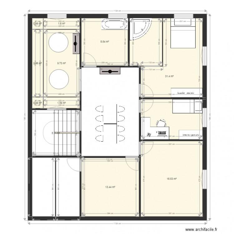 ma maison plan 11 pieces 98 m2 dessine par popjason With forum plan de maison 11 loft 88