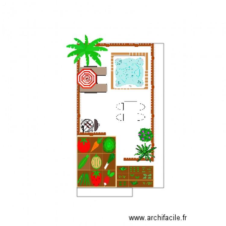 Jardin 1 plan dessin par malou2210 for Plan de jardin en ligne