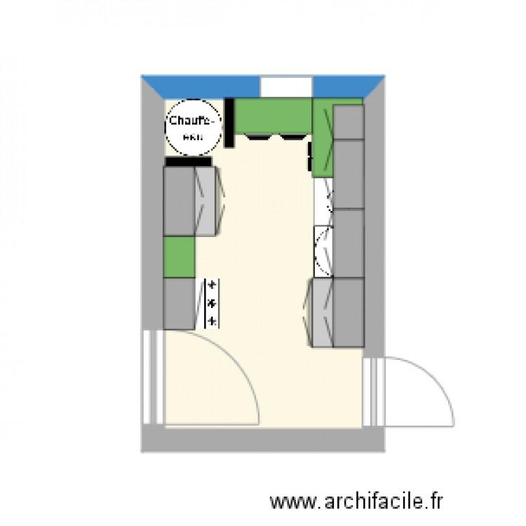 Plan Buanderie buanderie - plan 1 pièce 9 m2 dessiné par michemuche 81