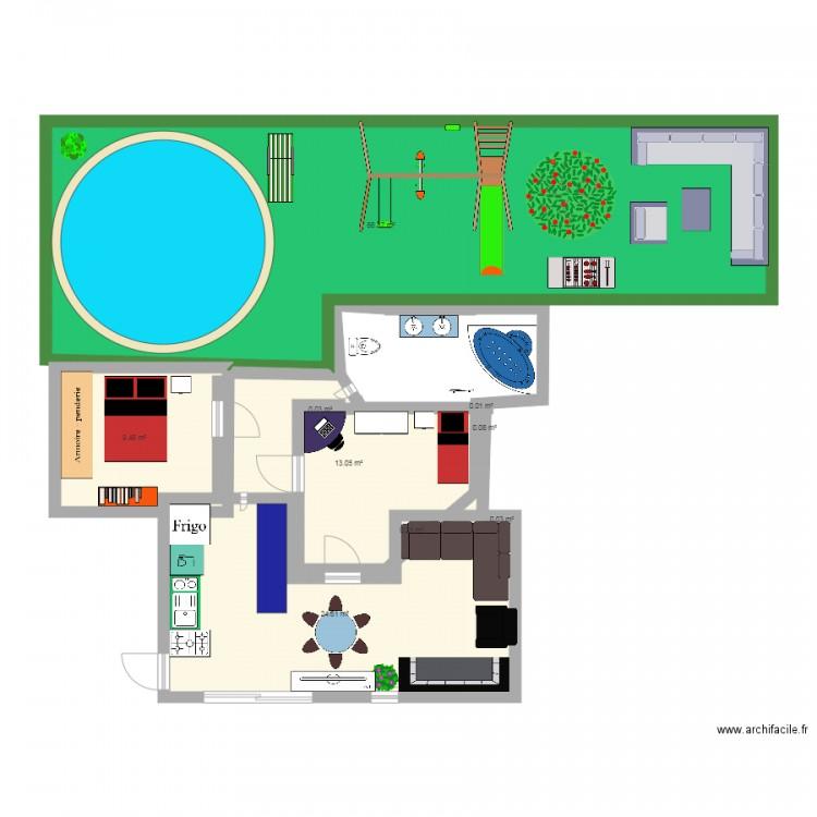 Maison de mes reves plan 9 pi ces 114 m2 dessin par for Mes plans de maison