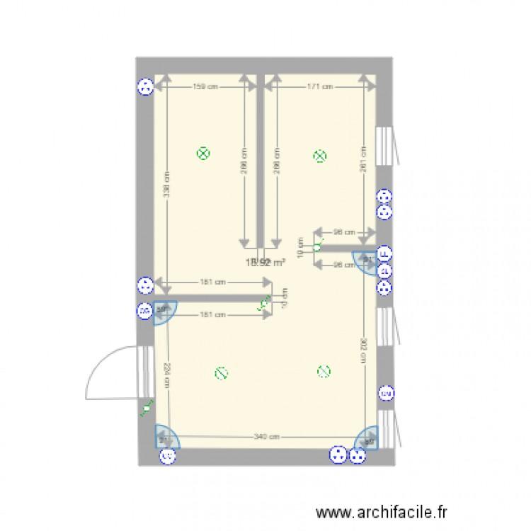 Maison franconville plan 1 pi ce 19 m2 dessin par cheffilou for Piscine franconville