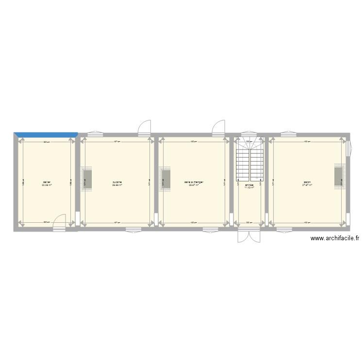 maison plan 5 pi ces 112 m2 dessin par fragat. Black Bedroom Furniture Sets. Home Design Ideas