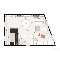 Plan appartement Julien GALLES implantation meubles option 2