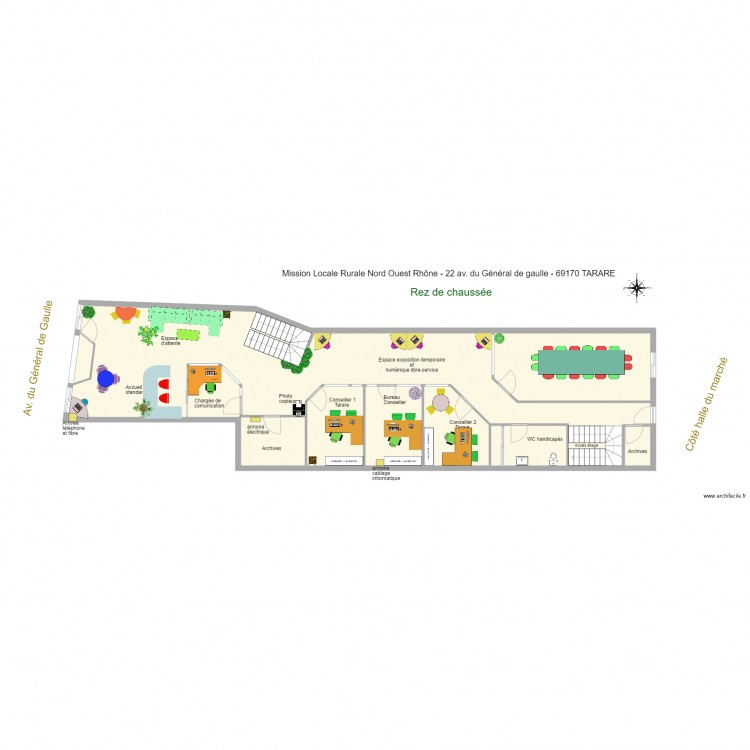 Notaire 2017 03 01 meubl plan 24 pi ces 436 m2 dessin for Bureau 90x50
