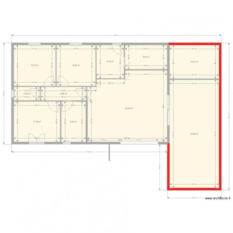 Extension Maison 2018 2 Plan 11 Pieces 134 M2 Dessine Par Ribag
