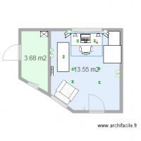 chalet client 15m2 plan 2 pi ces 17 m2 dessin par chalet yakmul. Black Bedroom Furniture Sets. Home Design Ideas