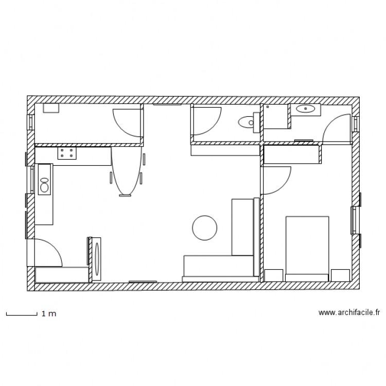 Petite maison de ville traversiere plan dessin par for Plan maison de ville