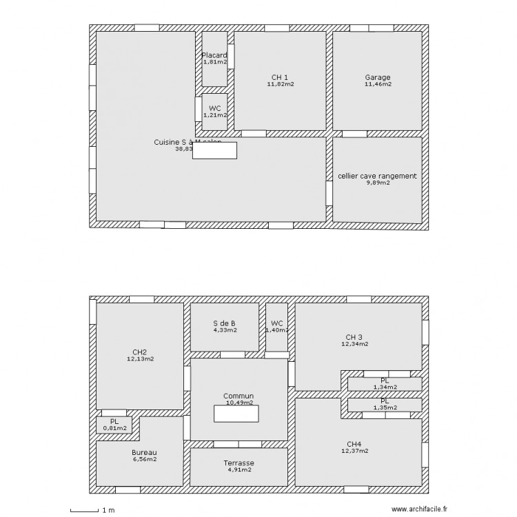 maison mini plan 17 pi ces 143 m2 dessin par celgast. Black Bedroom Furniture Sets. Home Design Ideas
