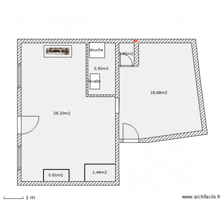 maison taillis rdc modif mur porteur plan 6 pi ces 55 m2 dessin par sonico pico. Black Bedroom Furniture Sets. Home Design Ideas