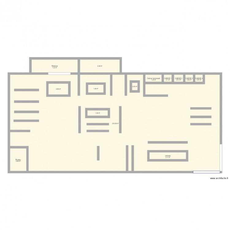 plan magasin kiabi 2017 plan 14 pi ces 265 m2 dessin. Black Bedroom Furniture Sets. Home Design Ideas