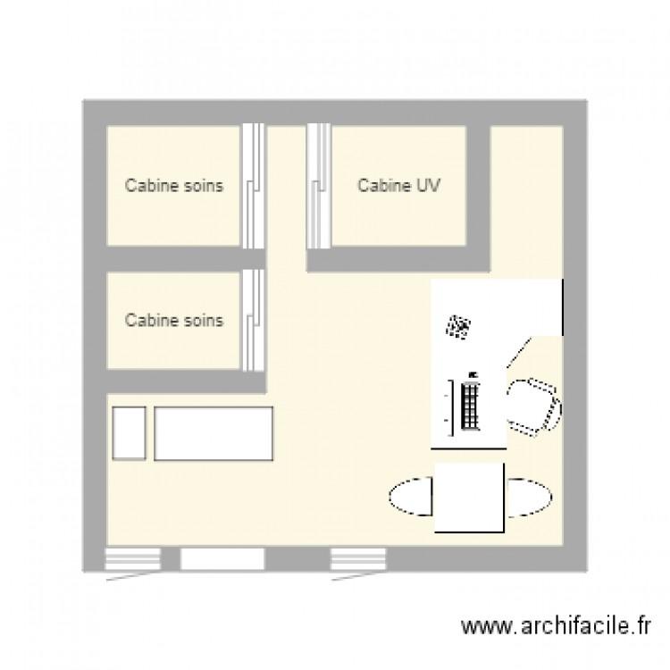 Plan institut eve beaut plan 4 pi ces 19 m2 dessin par for Plans de cabine gratuits